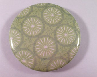 Lovely Green Patterned Pocket Mirrors