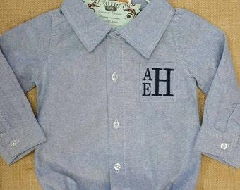 Baby Boy Onsie, Monogrammed Onsie,Baby Boy Clothing, Onsie