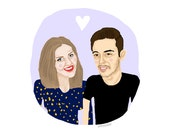 Custom Couple Portrait Illustration - a unique wedding gift