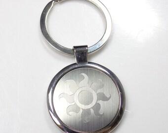 MLP Celestia Keychain Key Chain Tag Engraved Silver Tone Metal KEN-0041