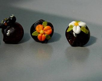 Glass noses for teddy bears and other toys / handmade / supply / decoration / teddy / teddymania
