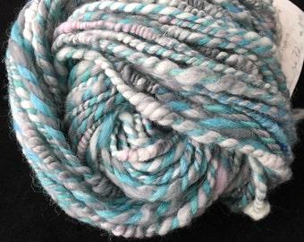 Coiled handspun yarn