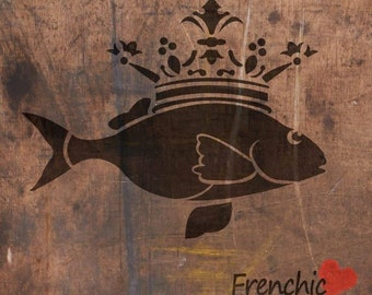 Painting Stencils - Fish Prince chalk paint stencils
