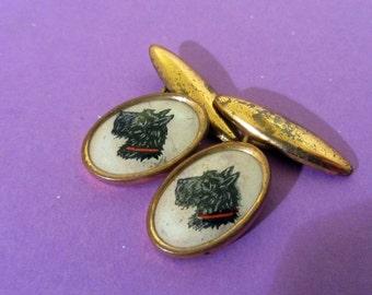 Vintage Scottie dog cufflinks- Terrier cufflinks men's,Scottie dog cufflinks-vintage dog cufflinks- Scotty dog,Scottie dog accessories