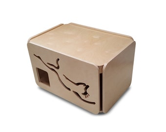 Litter Box Cabinet / Litter Box Cover / Cat Furniture / Cat Lover / Litter Box Enclosure /  Dog Proof