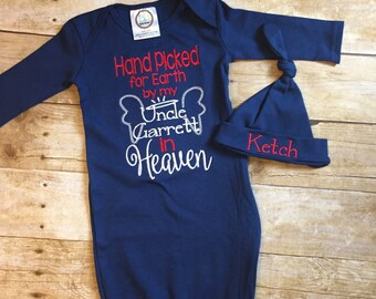 Handpicked for Earth Onesie, hand picked for earth, rainbow baby onesie, pregnancy after loss, Heaven Onesie, Going home outfit