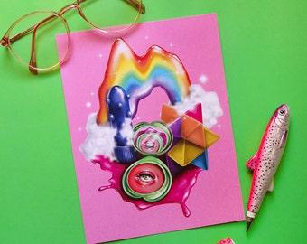 Barbie Kawaii Paradise Digital Art Print