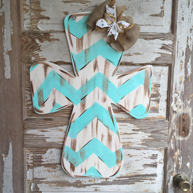 Design Your Own Door Hangers: Cross Door Hanger Personalized Door Hanger Spring Door