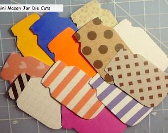 12 mason Jar Tags Die Cuts, scrapbook embellishments pocket letters, flip books, project lif