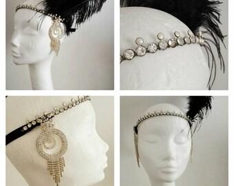 Gatsby vintage retro 20's twenties flapper flappers headpiece headdress