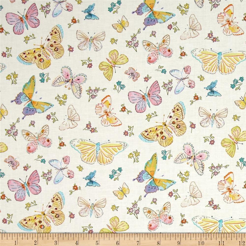 Free spirit fabric butterfly garden by dena designs for Butterfly garden designs free