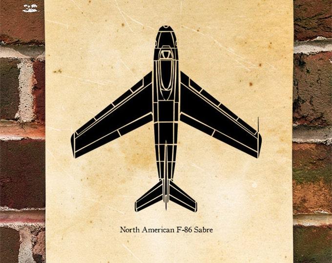 KillerBeeMoto: Limited Print North American F-86 Sabre Aircraft Print 1 of 100