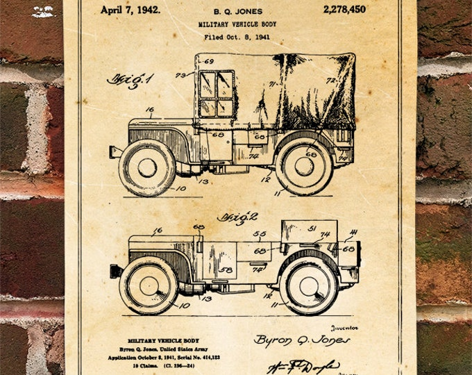 KillerBeeMoto: Duplicate of Original Jeep Patent Drawing