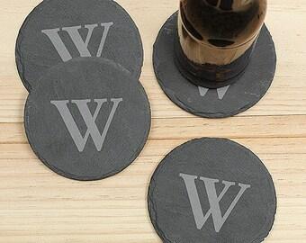 Personalized Coasters, Monogram Coaster, Slate Coaster