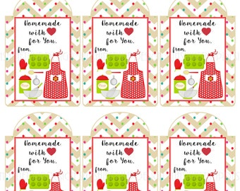 Homemade food label etsy printable baked goods homemade with love gift tags sticker labels by sunshinetulipdesign negle Gallery