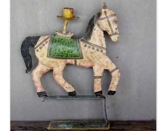 Indian Horse Candle Holder