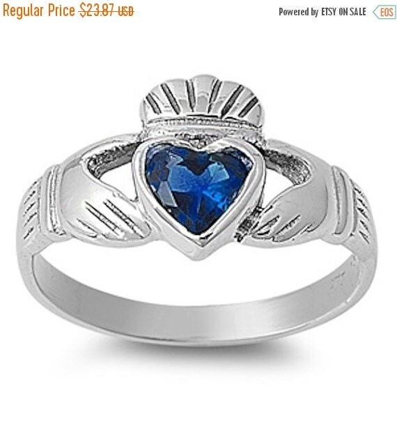 Solid 925 Sterling Silver 0.80 Carat Heart By BlueAppleJewelry