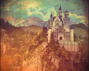 Once Upon a Time Castle Print 12x12