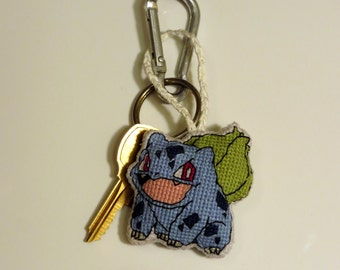 Bulbasaur Pokemon Charm for Keychain, Bags, Backpacks, Purses, and/or Zipper