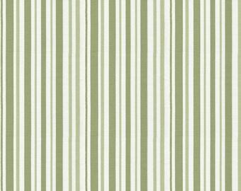 Sage Stripe Fabric - By The Yard - Boy / Girl / Gender Neutral