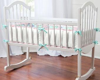 Aqua Haute Baby Cradle Bumper by Carousel Designs