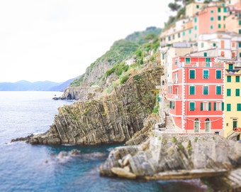 Riomaggiore Photography, Italy Photography, Cinque Terre, Large Wall Art, Wall Decor, Fine Art Photography