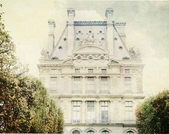 Paris Photography - Paris Print - Paris Decor - Paris Wall Decor - French Decor - Paris Wall Art - Louvre Museum - Tuileries Gardens