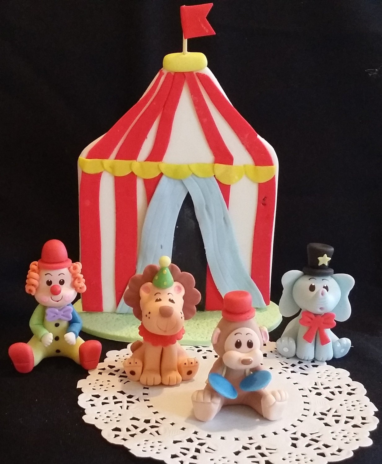 Carnival Birthday Circus Cake Toppers Circus Birthday Party