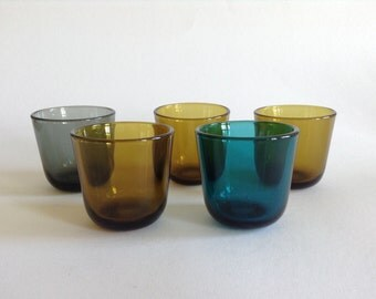 5 Nuutajarvi (Finland) shot glasses by Kaj Franck
