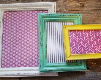 Distressed frame set: One (8x10, 5x7, 4x6)
