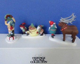 Dept 56 Santa's Little Helpers Retired North Pole Accessories