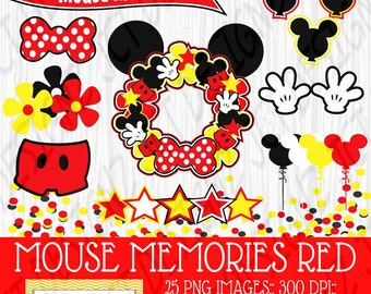 Mouse Memories Clipart, Mickey Mouse Inspired, Clipart, Mickey Mouse Clipart, Mickey scrapbook, digital clipart, mickey digital clipart
