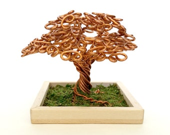 Small Copper Wire Oak Tree #1