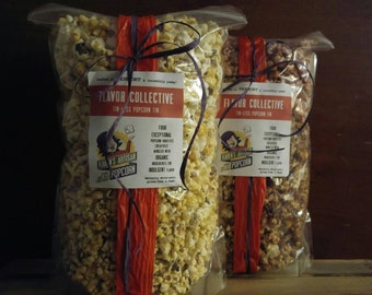Flavor Collective - Modern Gourmet Popcorn Tin - Made in Vermont - delicious organic popcorn in your choice of three layered flavors