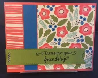 Friendship handmade greeting card