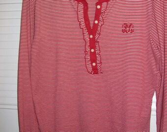 Tee Shirt M,  Ralph Lauren Long Sleeved Pullover Tee Shirt or Sweater.  Size medium 12 - 14