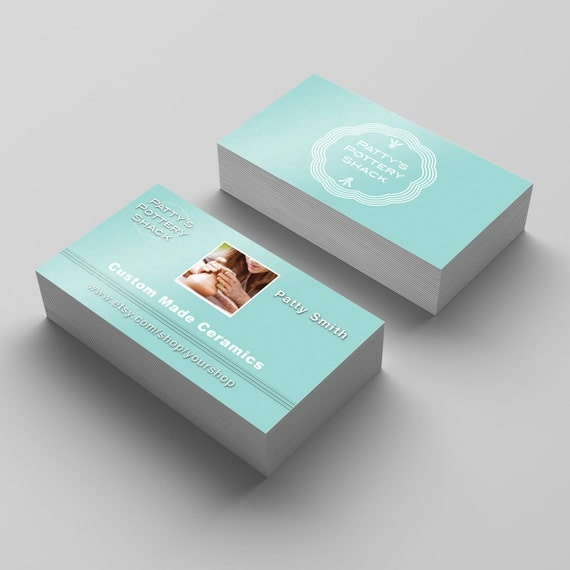 Etsy shop business card personalized business card crafter for Etsy shop business cards