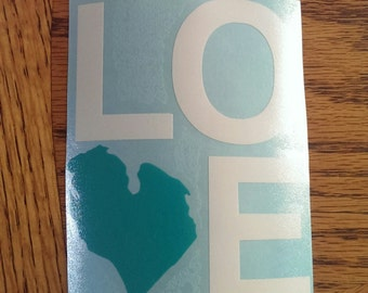 Michigan Love Decal