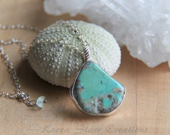 Turquoise with Pyrite Pendnat in Sterling Sivler