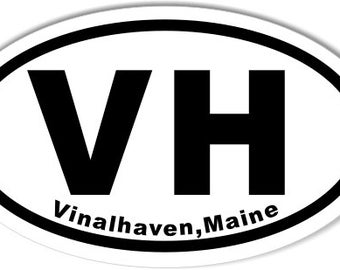 VH Vinalhaven,Maine Oval Sticker