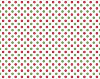 Christmas polka dot Riley Blake Designs Christmas small dot by the yard