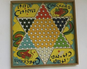 1928 Antique J.Pressman & Co. Chinese checkerboard Hop Ching Checkers