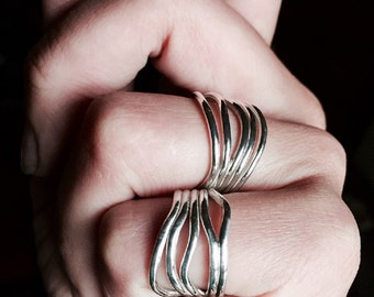Sterling Silver Ring, Handmade Ring, Organic Ring, Band, Handcrafted