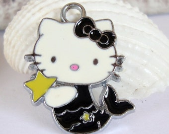 Kitty Mermaid Charm, Cat Mermaid Charm,