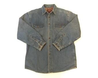 90s Flannel Lined Denim Shirt
