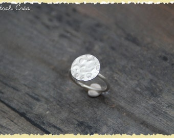 """Hammered ring """"small circles"""" 925 sterling silver"""