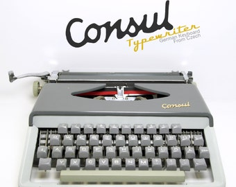Vintage Duotone Consul Typewriter from Soviet Czech