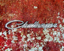 Challenger Emblem on Red Dodge Photograph