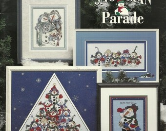 Stoney creek:  Snowman Parade Cross Stitch Booklet 159