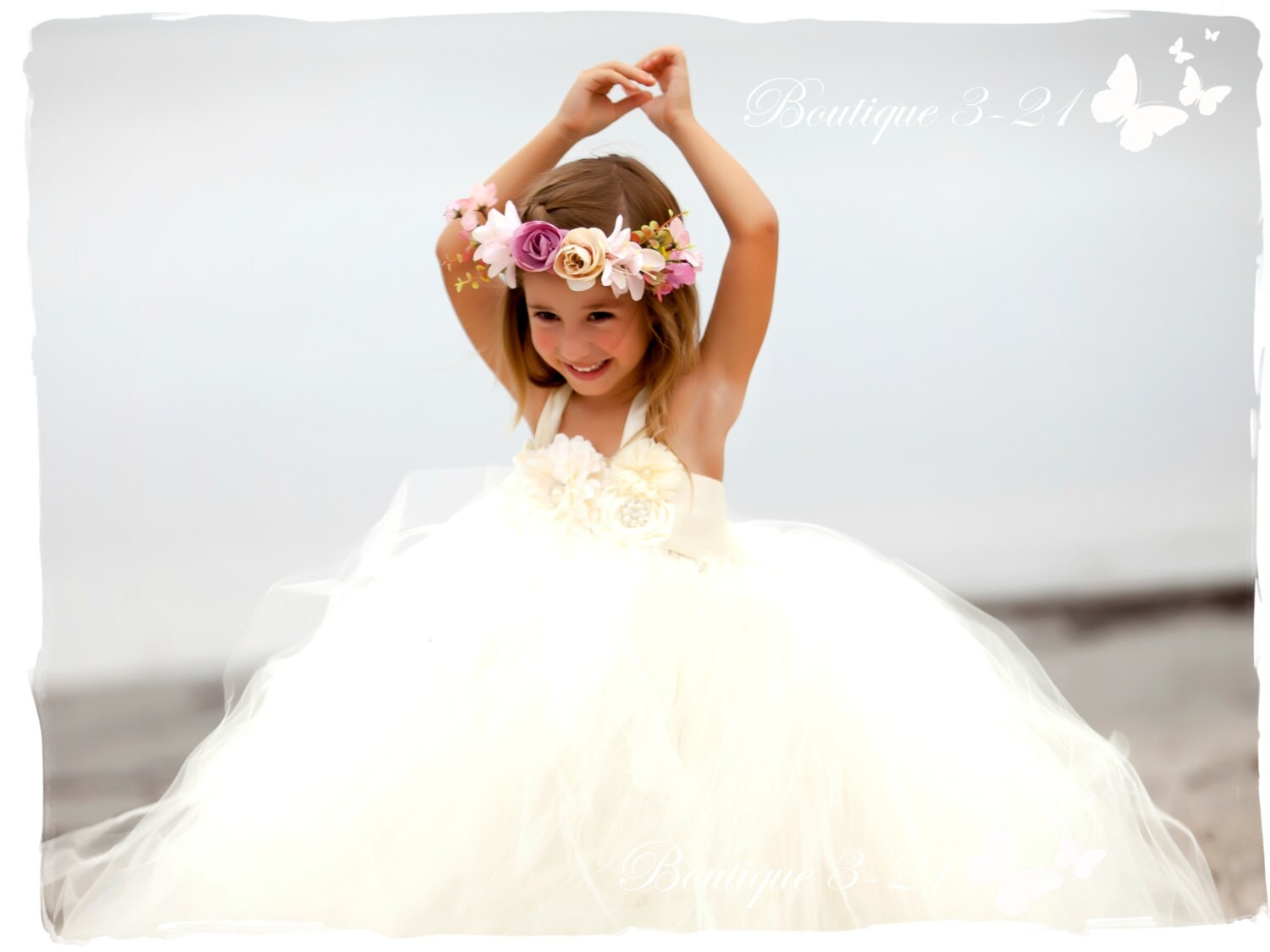 Ivory Flower Girl Dress Ivory tutu dress Flower by Boutique321